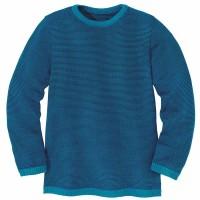 Leichter Wolle Pullover blau