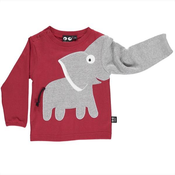 Rotes Elefanten Baby Langarmshirt