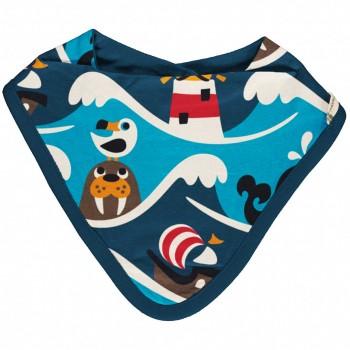 Nicki Dreiecktuch Ozean blau 26x23cm