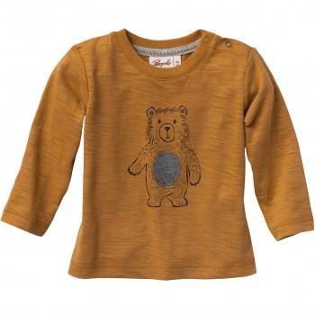 Langarmshirt mit Bär karamell-braun