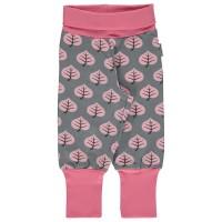 Mädchen Hose Blätter grau rosa mitwachsend