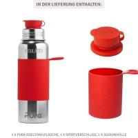 Vorschau: Pura Edelstahl Sportflasche Sportverschluss 800 ml rot