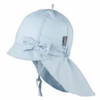 Blaue Sommer Mütze Schleife Nackenschutz