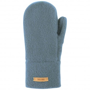Warme Kinder Handschuhe Wolle blau
