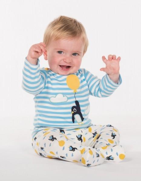 Süsses Baby Set aus Hose mit Fuss Shirt und Mütze