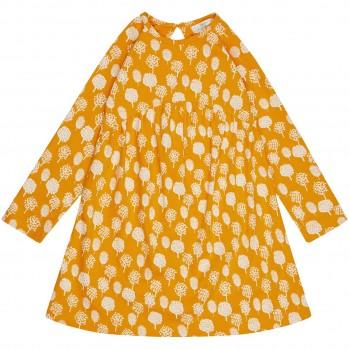 Mädchen Babykleid in gelb Bäumchen