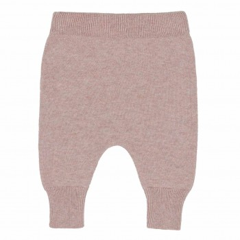 Baby Strickhose Wolle rosa