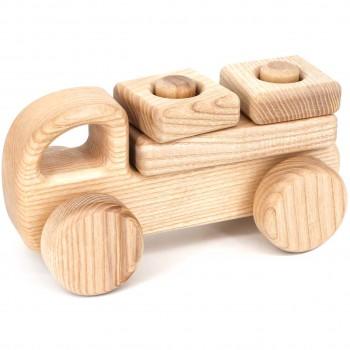 Steckspielzeug Holzauto klein – ab 10 Monaten