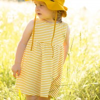 Leichtes Jersey Sommerkleid Streifen