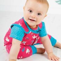 Baby Stampler kurzarm mit lustigen Häschen