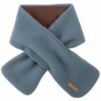 Fleece Wolle Steckschal 80x12 cm blau