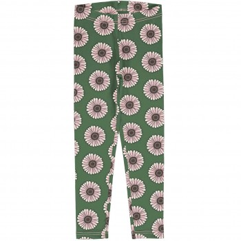Sweat Leggings Ringelblumen in grün