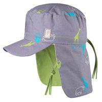 Poplin Sommer Mütze mit Nackenschutz