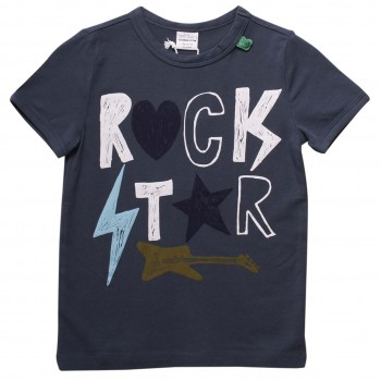 Rock Star kurzarm Shirt navy
