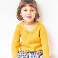 Hochwertiger Mädchen Pullover senf