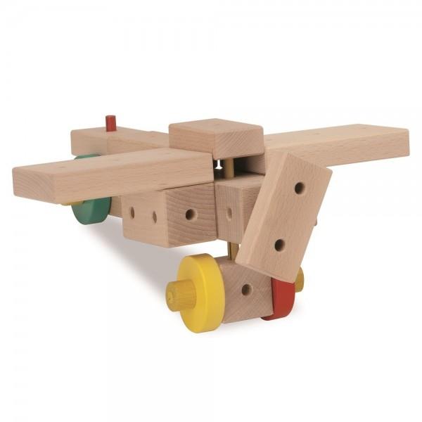 XL Baukasten mit Hammer & Zange Holz 350tlg