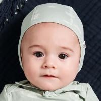 Leichte, edle Bio Baby Erstlingsmütze hellgrün