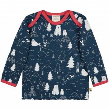 Winterwald Shirt langarm in dunkelblau