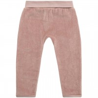 Warme Babyhose Velour in altrosa