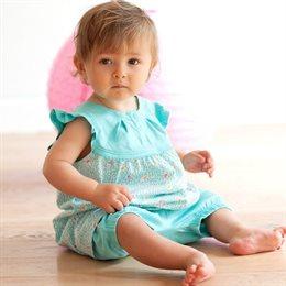 Süsses SET Bio Babykleid mit passender Hose