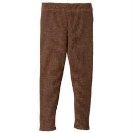 Wolle Leggings warm mitwachsend braun