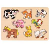 Steckpuzzle Tiere vom Bauerhof - 8 tlg