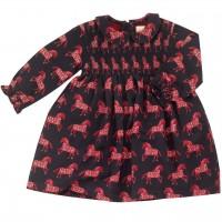 Hochwertiges Kleid mit Kragen Pferdchen