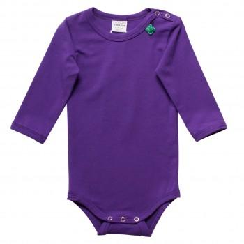 Basic langarm Body in lila
