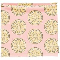 Schlauchschal leicht Zitronen in hellrosa 68/92
