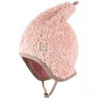 Zipfel Plüsch Mütze doppellagig - rosa