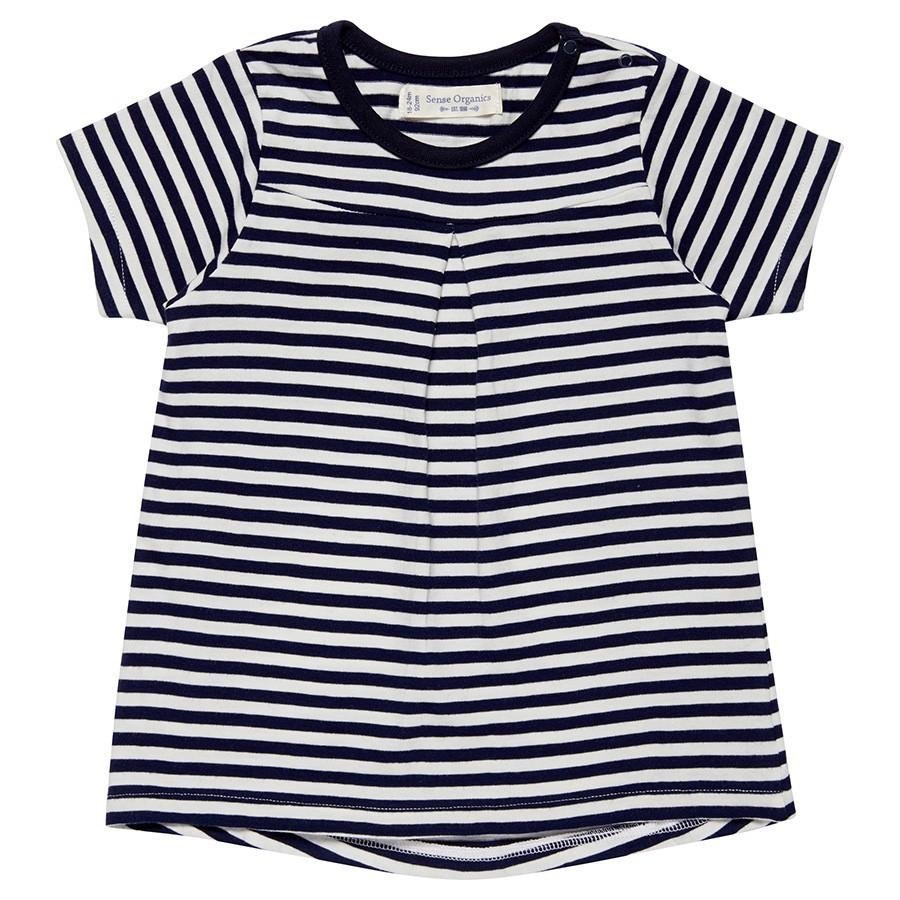 465b080f0d458e Sense Organics leichtes schwarz weißes Bio T-Shirt Mädchen