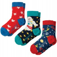 Kinder Jungen Bio Socken 3er Pack Space