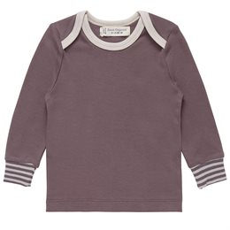 Basic Shirt softe Armbündchen taupe