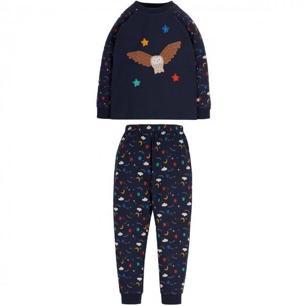 Schlafanzug Eule dunkelblau