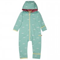 Leichter Sweatoverall Krokodile mint