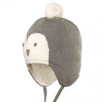 Pinguin Wintermütze - Mix aus Wolle, Seide & Biobaumwolle