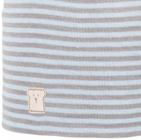 Wolle Seide Kindermütze leicht und atmungsaktiv - Bär