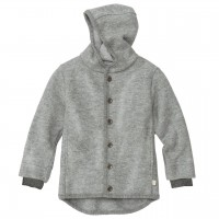 Walk-Jacke mit Knopfleiste in grau