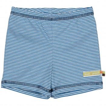 gestreifte leichte Shorts blau