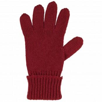 Kinder Handschuhe weinrot Strick