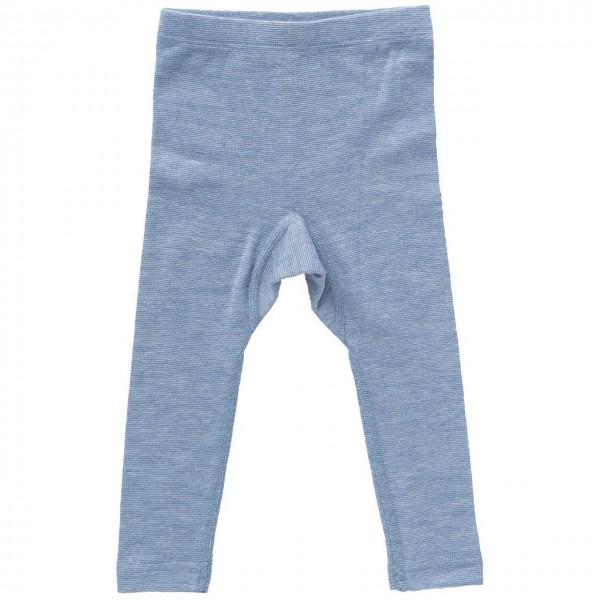 Wolle Seide Leggings hellblau