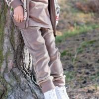 Warme Nicki Kinderhose haselnussbraun