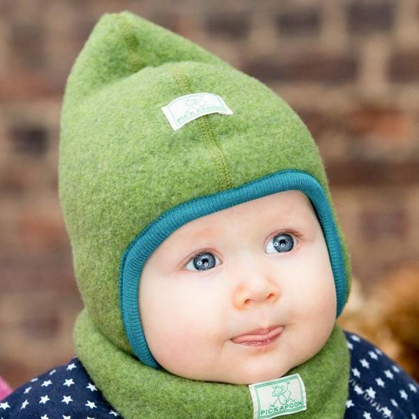 Mütze 36-38cm Herbst//Winter Baby Erstlingsmütze Mützchen mit Schal Ohrenschutz