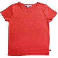 Shirt kurzarm uni Basic in rot