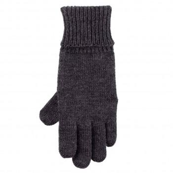 Strick Fingerhandschuhe anthrazit
