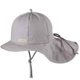 Verstellbare Sommermütze mit Nackenschutz grau