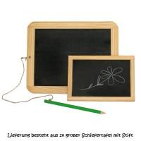Vorschau: Holz-Schiefertafel für Kinder - groß