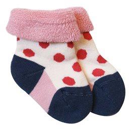 Dicke Babysocken aus warmen Frottee - rosa