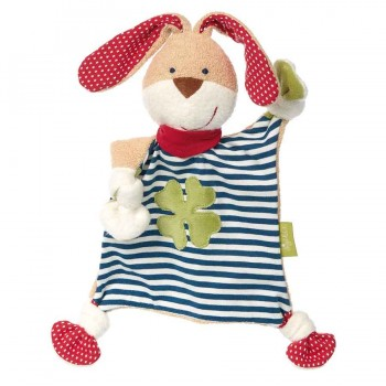 Bio Schmusetuch Hase mit Glückskleeblatt