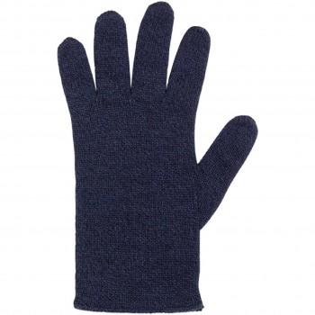 Damen Fingerhandschuhe Wolle Kaschmir marine